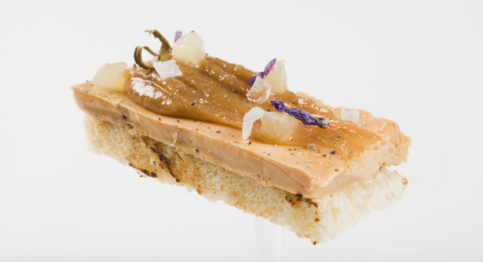 TOAST OF FOIE WITH MARRON GLACÉ CRÈME